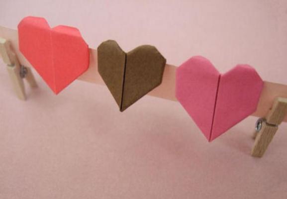 Как сделать сердце из бумаги, техника оригами