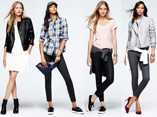 Поиск обуви и одежды модной на рынке