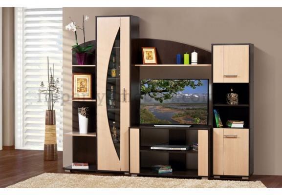 Мебель для гостиной: компактные полки