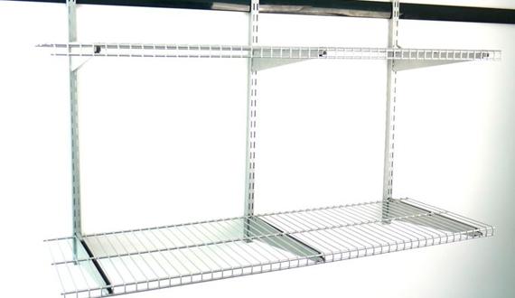 Применение настенных и сетчатых стеллажей