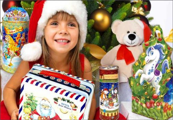 Детские новогодние подарки в Уфе